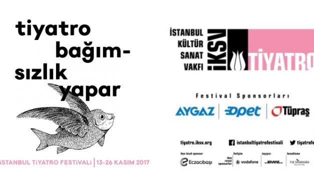 21. İstanbul Tiyatro Festivali 13 Kasım'da perdelerini açıyor.